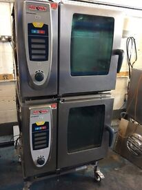 Stacked Rational SCC61 6 Grid Ovens with Stand