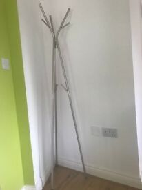 Ikea Coat Stand (Knippe Design) Steel and Nickel Plated - Like New, Assembled and Ready To Use