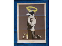 BANKSY - 'FORGIVE US OUR TRESPASSING' - RARE ORIGINAL LIMITED EDITION POSTER - c2010 (DON'T PANIC)