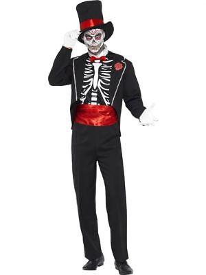 Smiffys Day Of The Dead Suit Dia De Los Muertos Mens Halloween Costume 21565 - Dia De Los Muertos Man Costume