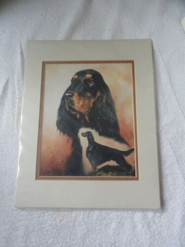 Matted Limited Edition Art Print: Gordon Setter by US Artist Ruth Maystead*