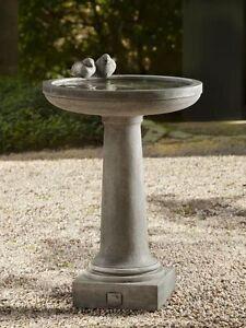 Recherche bain d'oiseaux fontaine en beton