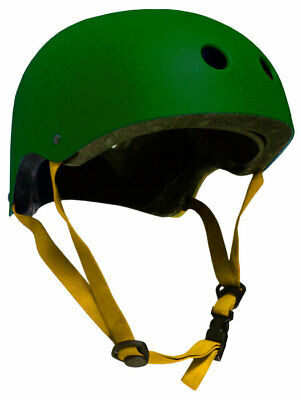 CPSC Skateboard Fitness Inline Helmet ADULT OSFA HUNTER GREEN/YELLOW