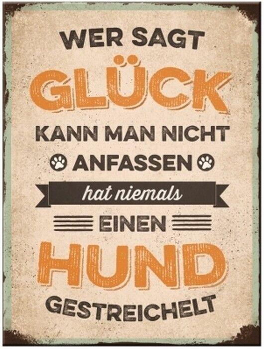 Glück und Hund Nostalgie Kühlschrank Magnet 6x8 Tin Sign EMAG57