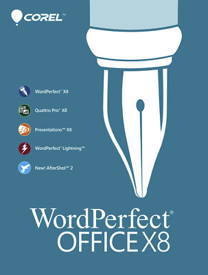 Corel Wordperfect Office X8 Home   Student 3 Pc New  Product Key Card