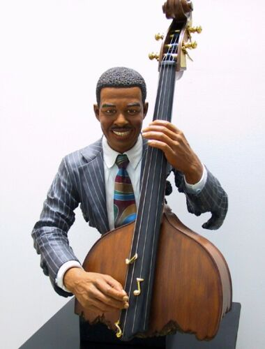 "Willitts Designs All That Jazz 2002 Bass Player sculpture ""Keepin"