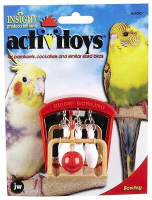 JW PET BIRD TOY BIRDIE BOWLING PARAKEET COCKATIEL. FREE SHIPPING TO THE USA