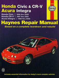 HONDA CIVIC & CR-V - ACURA INTEGRA HAYNES REPAIR MANUAL