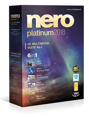 Nero 2018 Platinum 4K Multimedia Suite - New Retail Box