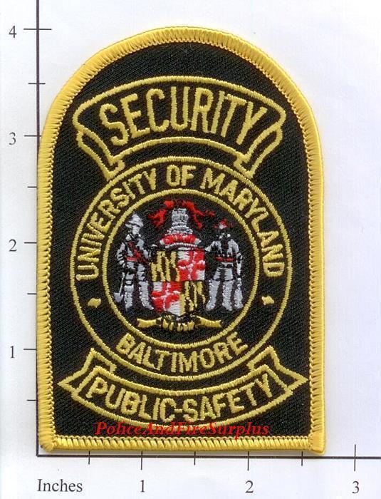 Maryland - University of Maryland Public Safety MD Police Dept Patch