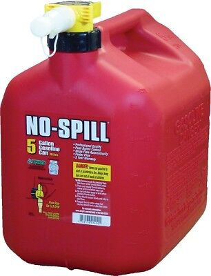 No-spill Gasoline Fuel Gas Can Red 5 Gallon 13.75x10x15 1450