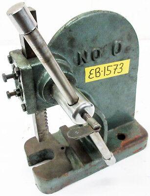 Single Lever Manual Arbor Press Model 0