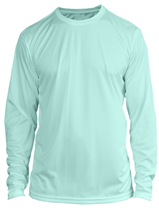 Microfiber Long Sleeve Fishing Shirt UPF 50 SEAFOAM GREEN - N/G