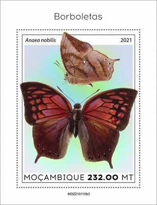Mozambique 2021 MNH Butterflies Stamps Butterfly Noble Leafwing 1v S/S III