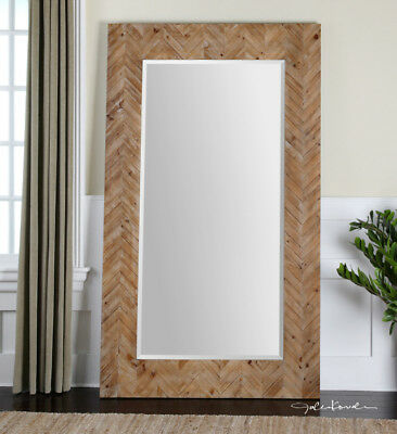 Oversized Dressing Leaner Large Wood Wall Floor Mirror XL 74