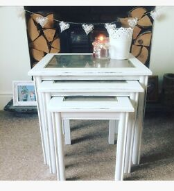 REDUCED! Shabby chic nest of tables