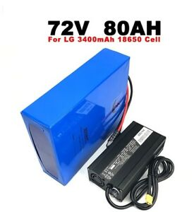 LG 18650 cell 72V 80AH E-bike lithium ion battery