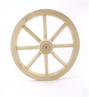 Cart wheel Medium 60 Wagon Solid Plain Wood Vintage Style Garden Home Decorat...