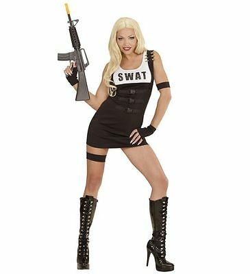 SWAT GIRL POLICE OFFICER WOMANS SPECIAL AGENT FBI MILITARY FANCY DRESS COSTUME   - Special Agent Costume