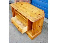 Pine tv table