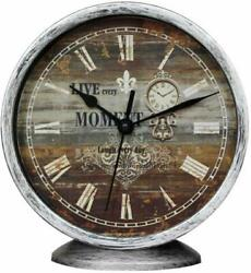 Nice Wall Clock 6.3 6 2 Wooden Board Vintage Style  Shabby Chic Farmhouse