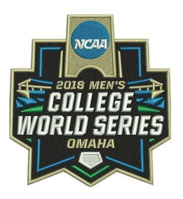2018 College World Series Patch Baseball Omaha Full Color Embroidered Ships Now