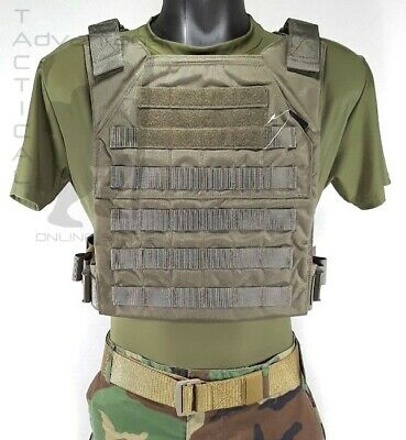 Grey Ghost Gear Minimalist MOLLE Body Armor Hard Plate Carrier - ranger green