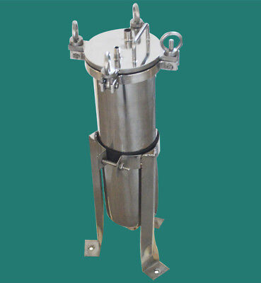 304 Stainless Steel Bag Filter Housing 150psi 1inch Npt High Pressure Filtration