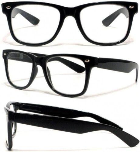 lunettes monture geek vintage retro noir verre neutre transparent tendance ebay. Black Bedroom Furniture Sets. Home Design Ideas