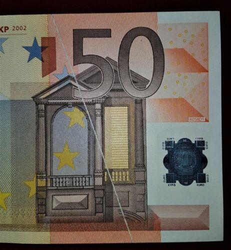 50 EURO BANKNOTE ERROR DEFECT RARE  UNC
