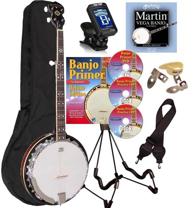 Oscar Schmidt OB5LH LEFT HANDED 5-String Banjo Resonator BLUEGRASS Package