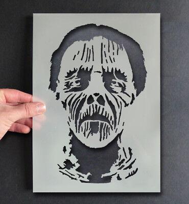 Zombie-Kopf Unheimlich Dekor Handwerk Farbe Jede Oberfläche (Halloween-schablone)