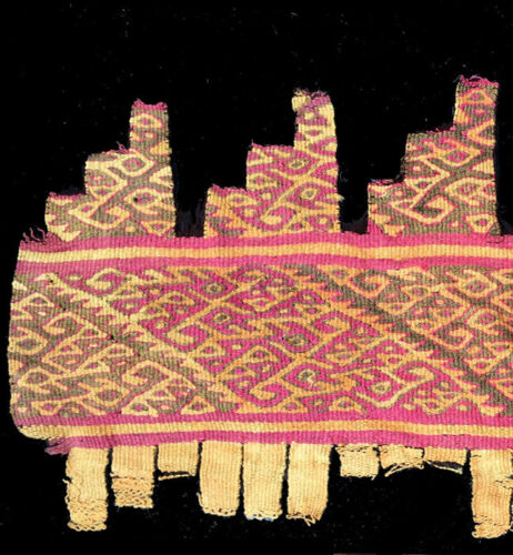 PRE-COLUMBIAN PERU WOVEN  TEXTILE FRAGMENT #4