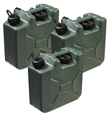 3x10L Olivgrün Kraftstoffkanister Benzinkanister Kraftstoff Kanister UN-Zulassun
