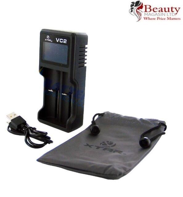 XTAR VC2 LED USB battery charger (18650 / 14500 / 16340 / 18500 / 26650)