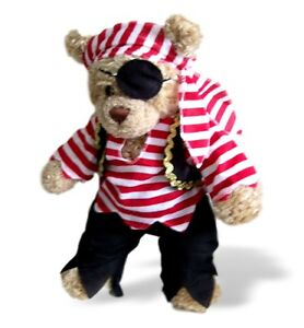 Teddy-Bear-Clothes-fits-Build-a-Bear-Pirate-Traditional-Outfit-Eyepatch-Clothing