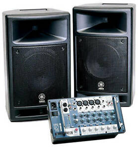 Yamaha Stagepas 300 Speakers with mixer