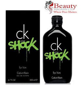 Calvin Klein CK ONE SHOCK FOR HIM 200ml EDT Spray New