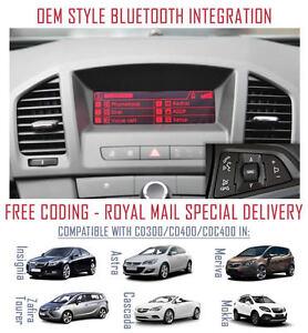 Vauxhall Insignia Retrofit OEM Upgrade Bluetooth for CD300 CD400 Headunits A2DP