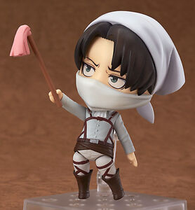 Nendoroid Levi Cleaning Version Attack on Titan RARE authentic