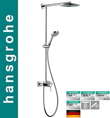 hansgrohe ecosmart raindance s shower pipe ws100 air 3jet handshower
