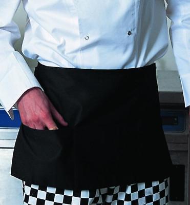 1 Pc Black Waiter Waitress Server 3 Pocket Waist Apron