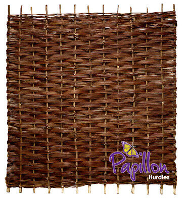 Woven Willow Bunched Weave Hurdle Fencing Fence Panel 6ft x 6ft Garden Screening