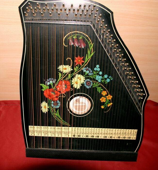 Musima Markneukirchen Rare Vintage Autoharp Democratic Republic Of Germany