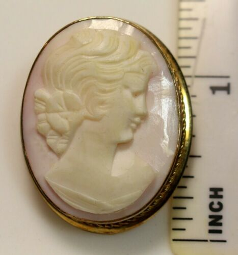 VAN DELL 1/20th 12K GF Gold FIlled Cameo Pendant and Pin