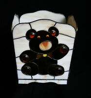 "Stained Glass"" Teddy Bear Planter For Sale"