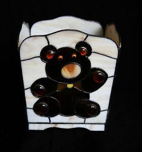 "Stained Glass"" Teddy Bear"" Planter For Sale"