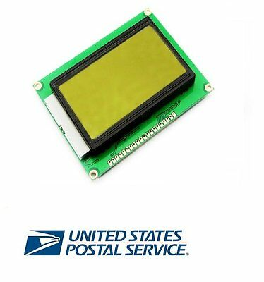 5v 12864 Lcd Display Module 128x64 Dots Graphic Green Color Backlight St7920 Us