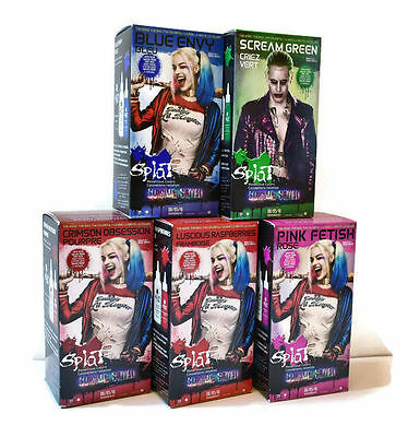 SPLAT Hair Dye Suicide Squad Harley Quinn/Joker - Multiple Colours With Comic In