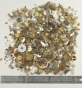 HUGE-PACK-100g-Watch-parts-STEAMPUNK-ALTERED-ART-CRAFTS-CYBERPUNK-cogs-gears